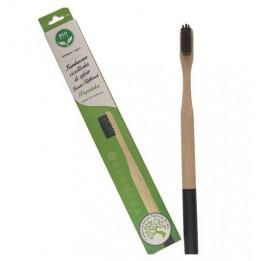 Bambusowa szczoteczka do zębów czarna miękka