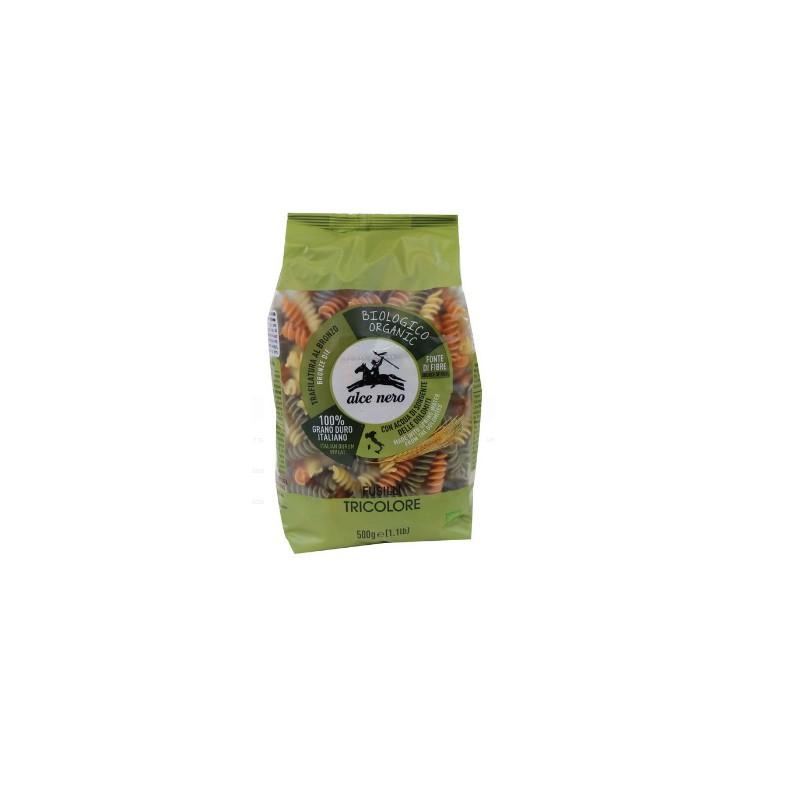 Makaron semolinowy trójkolorowy Fusilli BIO 500g