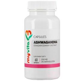 Ashwaganda standaryzowana 3% 250mg 60 kaps.