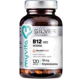 Silver Pure 100% Witamina B12 Metylokobalamina 100µg 120 kaps.