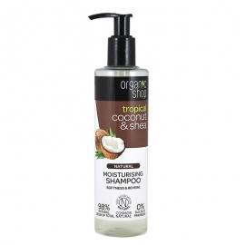 Organic Shop Szampon nawilżający organiczny Kokos i Shea 280ml