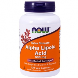 ALA (Kwas Alfa Liponowy) Plus Grape Seed Ext & Bioperine 120 kaps.