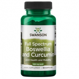 Full Spectrum Boswellia & Curcumin 300mg/300mg 60 kaps.